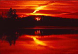 A little sunset, a little dawn.